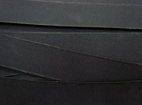 Great value 38mm Ribbed Elastic- Smokey Black #038 available to order online Australia
