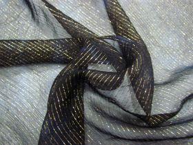 Great value Mottled Metallic Thread Silk Chiffon- Midnight #4353 available to order online Australia