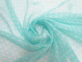 Great value Fairy Floss Spot Silk Yoryu Chiffon #5849 available to order online Australia
