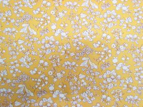 Great value Liberty Cotton- Fruit Silhouette- Yellow- The Orchard Garden Collection available to order online Australia