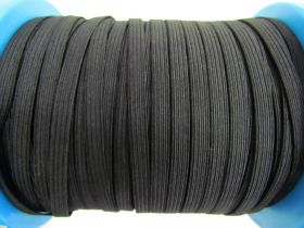 Great value 150m Roll of 6mm Braided Elastic- Black #1027F available to order online Australia