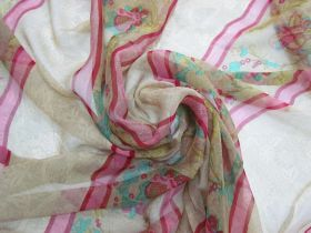 Great value Orchard Garden Silk Georgette- Red Stripe #5878 available to order online Australia