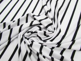Great value Thin Stripe ITY Jersey- Black / White #2389 available to order online Australia