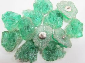 Great value Quartz Crystal Couture Buttons- Green CB244 available to order online Australia