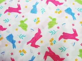Great value Happy Hopping Cotton- White available to order online Australia