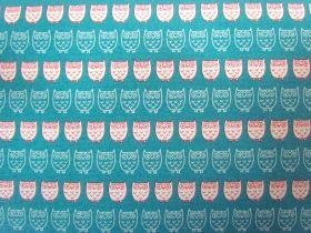 Great value Kokka Owls- Cream on Blue available to order online Australia