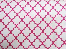 Great value Quatrefoil Cotton- Pink #4602 available to order online Australia