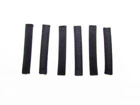 Great value Covered Plastic Boning Pieces- 6.5cm Black RW224-  6 for $4 available to order online Australia