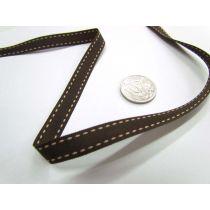 Stitch Ribbon 10mm- Choc / Latte