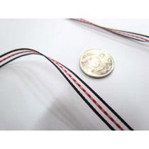 Georgie Ribbon 6mm- Black/Fuchsia