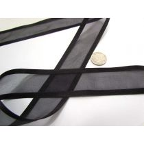 Satin Edge Ribbon 38mm- Black