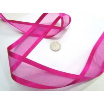 Satin Edge Ribbon 38mm- Fuchsia