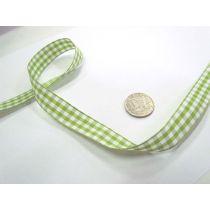 Gingham Ribbon 15mm- Lime