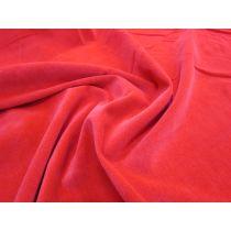 Cotton Velveteen- Cherry Red