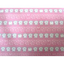 Pigs Heavyweight Cotton- Pink