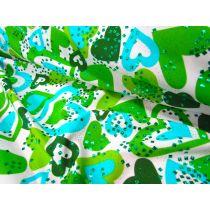 Hearts Lycra- Green