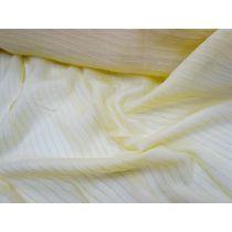 Self Stripe Silk Chiffon- Banana