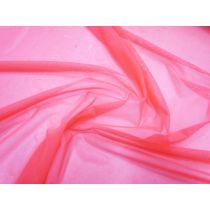 2way Stretch Mesh- Fluro Coral Pink