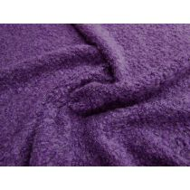 Boucle Wool Blend Knit- Purple Affair