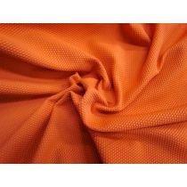 Honeycomb Knit Jersey- Burnt Orange #938
