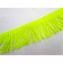 Stretch Fringing- Fluro Yellow- 65mm