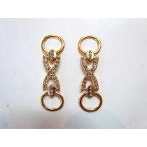 2 x Rose Gold Diamonte Chains