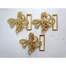 3 x Gold Octopus Clasps