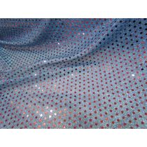 3mm American Sequins- Red on Blue