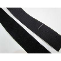 50mm Sew On Hook & Look Velcro- Black