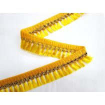Gold Embroidered Tassel Trim- Sunshine