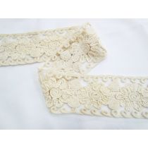 Cappucino Flower Soft Embroidered Lace