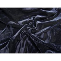 Stretch Velvet- Evening Navy