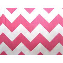 Medium Chevron- C320-70- Hot Pink-110cm