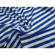 Jolly Blue Stripe Modal Cotton Jersey