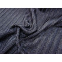 Lustrous Chunky Rib Knit- Midnight