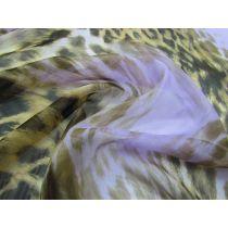 Purple Leopard Silk Chiffon