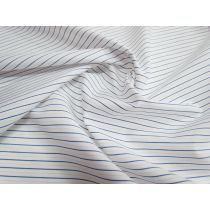 Cotton Stripe Shirting- White/Blue/Peach