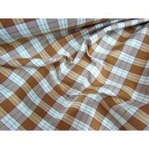 Toffee Check Cotton