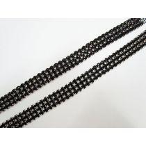 Black Diamante Rhinestone Trim Pieces- 2 for $5