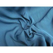 Peach skin Satin Chiffon- Billionaire Blue