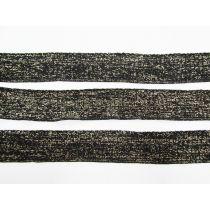 Pre-made Ribbing Trim Bundle- Gold Shimmer/Black- 3 for $5