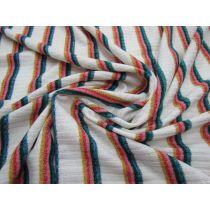 Rainbow Brite Lurex Stripe Ribbed Jersey