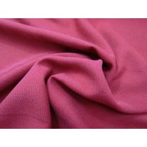 Textured Viscose Blend Suiting- Ruby Rouge