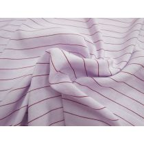 Dreamy Striped Linen Blend- Lilac/Maroon