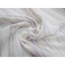 California Stripe Light Linen Cotton Blend- Lilac