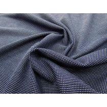 Tiny Spot Fine Knit- Navy/White