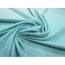 Light T-Shirt Knit- Yarn Dyed Stripe- Teal/Lime