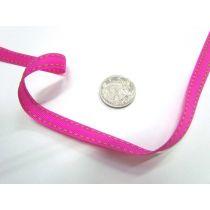 Stitch Ribbon 10mm- Bright Pink / Lime Green