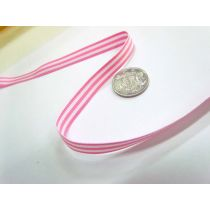 Candy Cane 10mm- Baby Pink / White