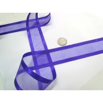Satin Edge Ribbon 38mm- Purple